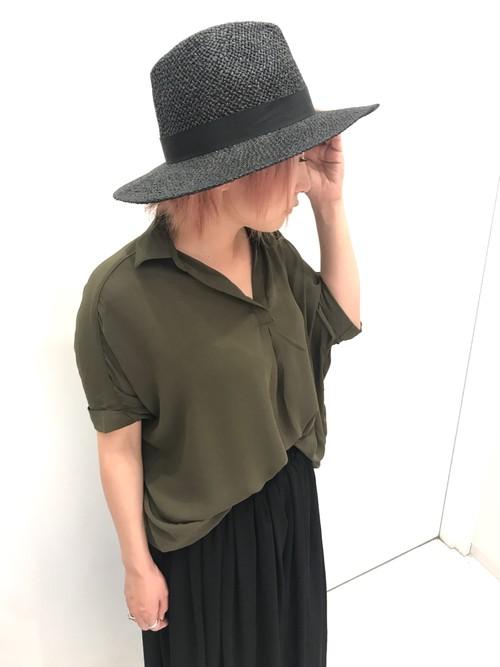 スキッパー/とろみシャツ/ブラウス/カーキ/213-4086/特別価格
