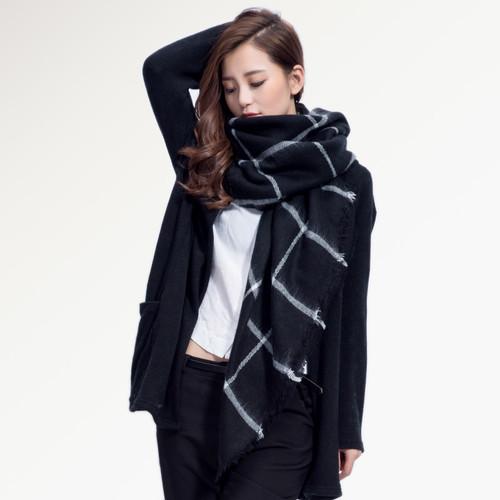最高品質の冬のスカーフスクエアチェック柄スカーフデザイナーユニセックスアクリル基本ショール女性のスカーフ熱い販売004 VIO1598548