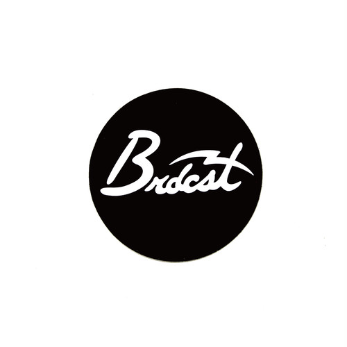 BROADCAST CIRCLE LOGO STICKER