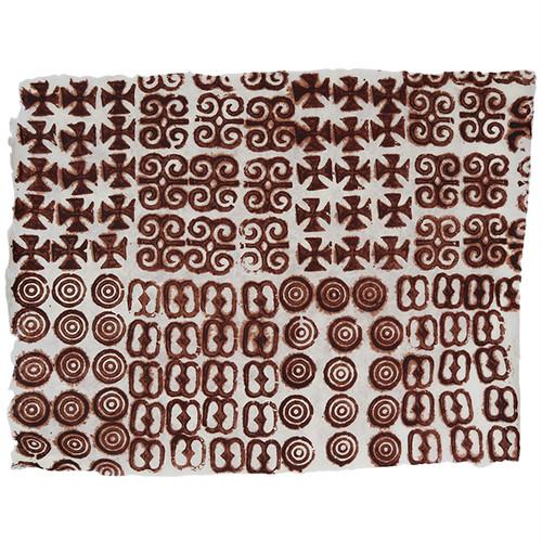 アシャンティ族のアディンクラの手漉き紙 2 / Asante Adinkra Handmade Paper 2