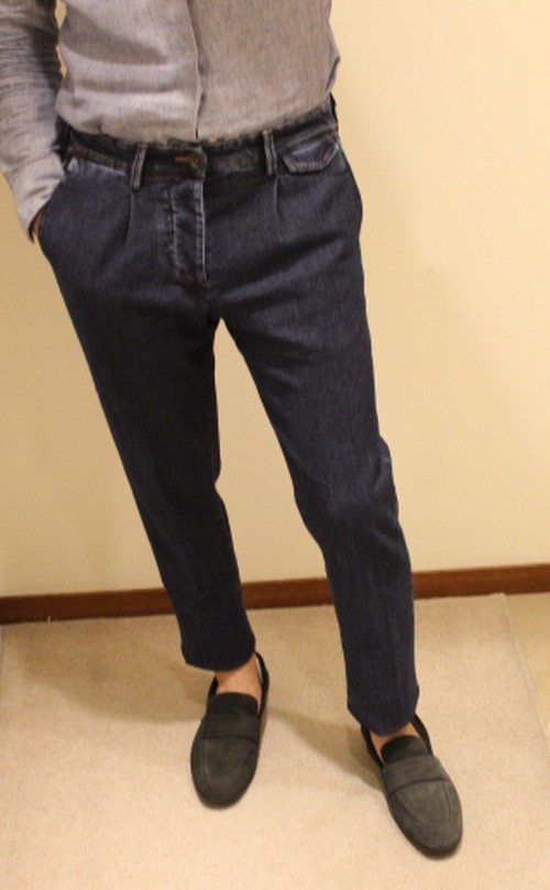 LARDINI Denim Slacks