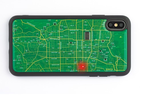 FLASH 京都回路地図 iPhone XS Maxケース 緑【東京回路線図A5クリアファイルをプレゼント】