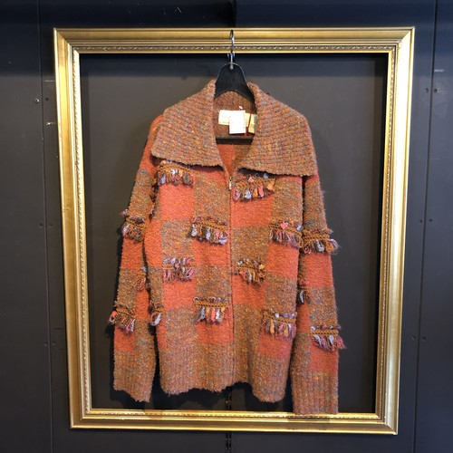 brown design knit jacket [B1659]