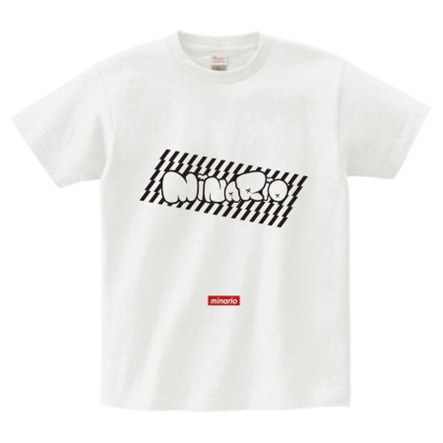 minario / POP CHECKER LOGO T-SHIRT WHITE