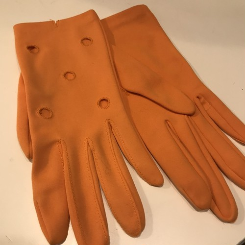 VINTAGE orange dot gloves