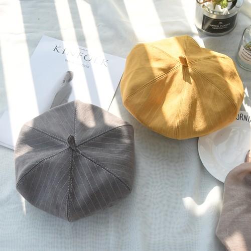 【予約】ユニセックスストライプベレー帽