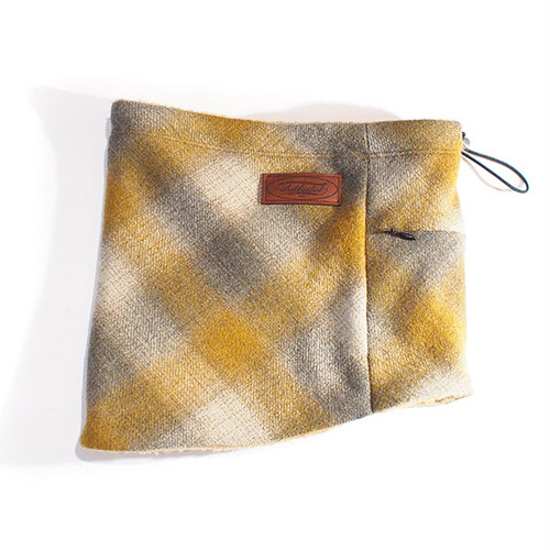 OMBRE CHECK NECK WARMER (YELLOW×BEIGE) / LOST CONTROL
