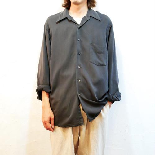 【USED】VAN HEUSEN 長袖 オープンカラー レーヨンシャツ