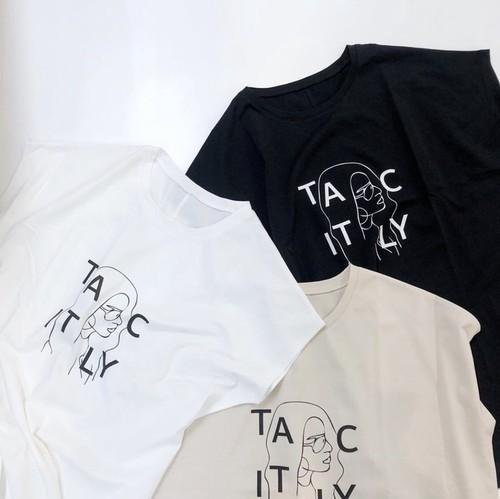 チュニック丈 プリントTシャツ【print T-shirt】