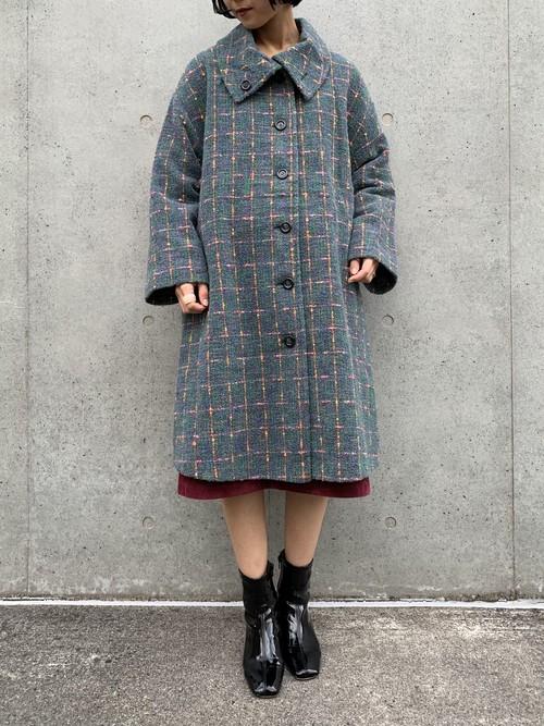 (TOYO) check pattern design coat