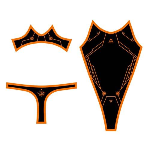 PredatorRat×D/3「サイバーボディースーツ type P.R- X X」 黒×オレンジ