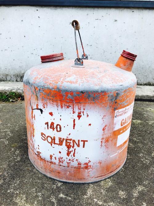 品番5285 オイル缶 レッド インテリア ディスプレイ ヴィンテージ