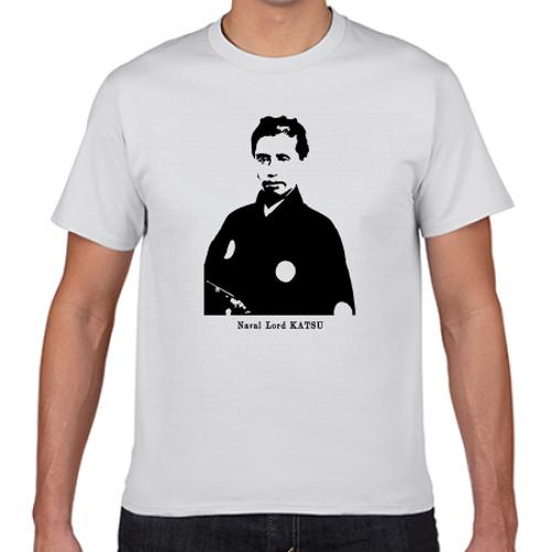 勝海舟 幕末 明治 幕臣 歴史人物Tシャツ008