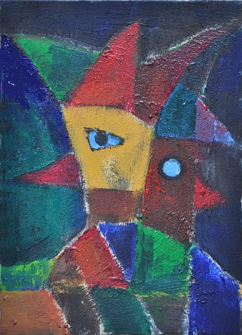 森の精 兄弟(アクリル絵画)