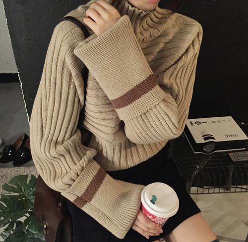 【即納♡】ロングプルオーバーニットセーター 8155