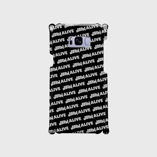 (通販限定)【送料無料】Galaxy S8+ (SC-03J/SCV35)_スマホケース ストライプ_ブラック