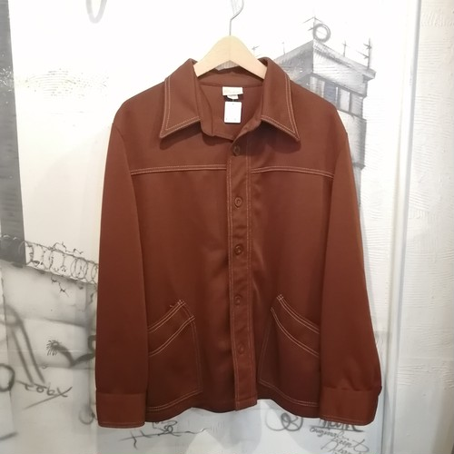 70s sears polyester shirt jacket