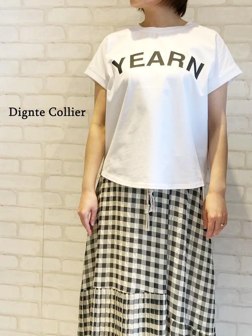 Dignite Collier/フレンチプリントTシャツ/802105(ホワイト)