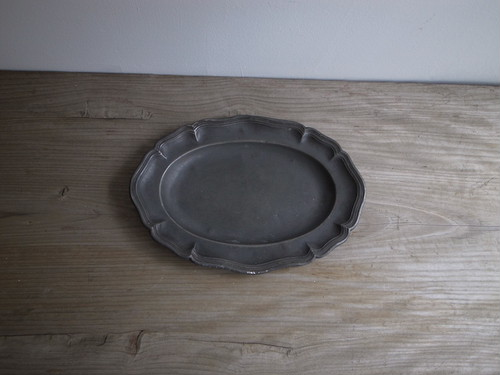pewter plate / france