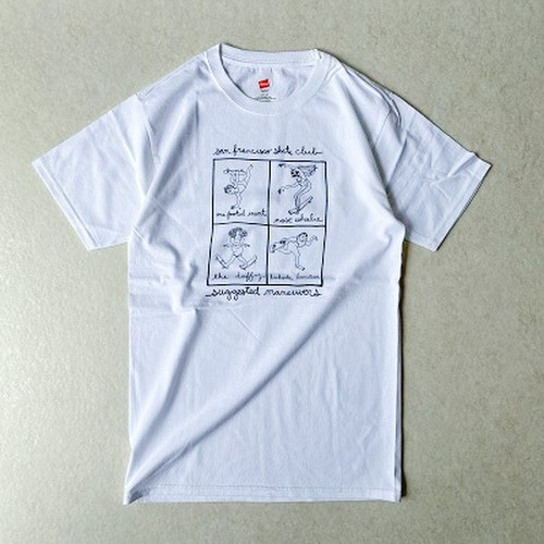 SAN FRANCISCO SKATE CLUB (unisex)  wht