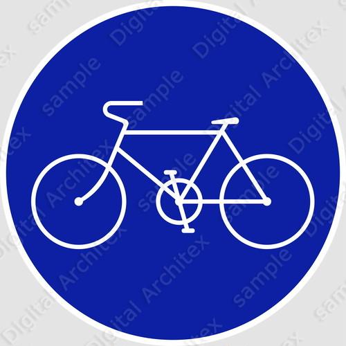 【イラスト】自転車専用の 交通標識