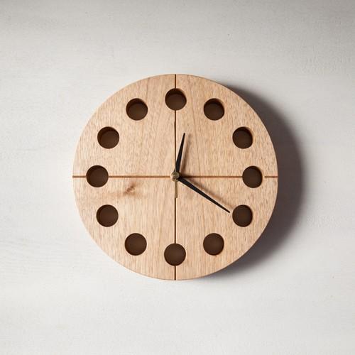 木の時計マル(Φ240) No13 | クルミ【針、選択可】