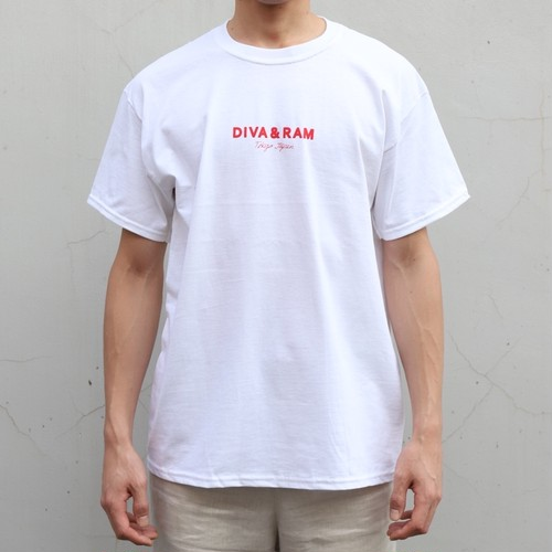 mini  LOGO TEE(WHITE×RED)