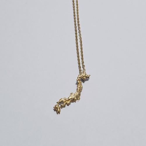 Japan necklace gold color (brass,K18goldplate)