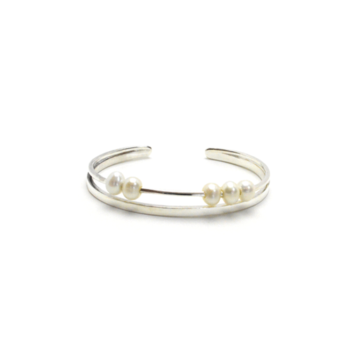 Snow dust bangle white