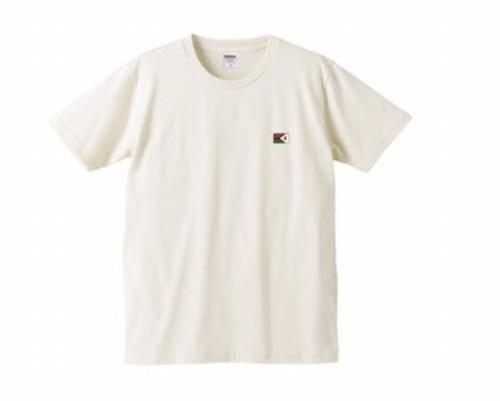 KYUSワンポイトフラッグTシャツ (ナチュラル)綿100パーセント