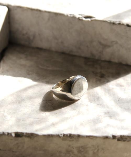 YKPR17012310【YArKA/ヤーカ】oval plain ring[reck2]/プレーン楕円リング[レック2]