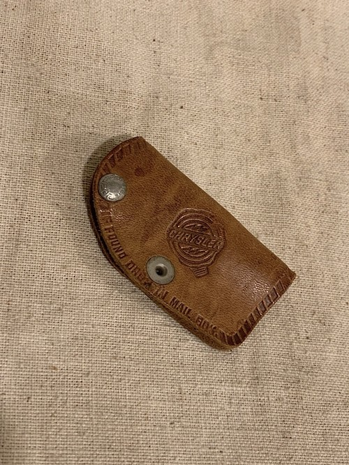 "LEATHER KEY CASE "" LEACH MOTORS """