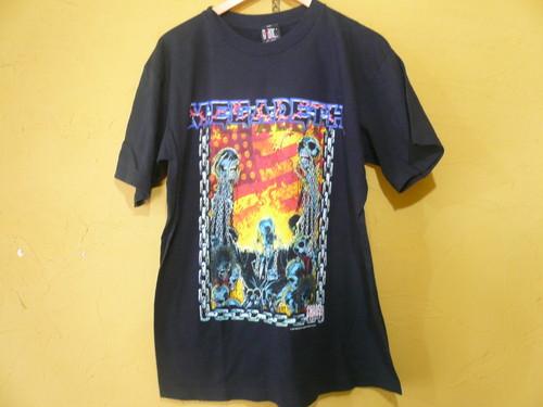 90s 希少 MEGADETH メガデス GIANT アメリカ製 1998 Tシャツ /ヘヴィメタル ロック メタリカ アンスラックス ガンズ