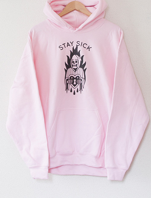 【STAY SICK CLOTHING】Reaper Hoodie (Pink)