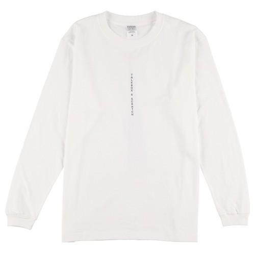 I woke Up L/S T-shirt【白】