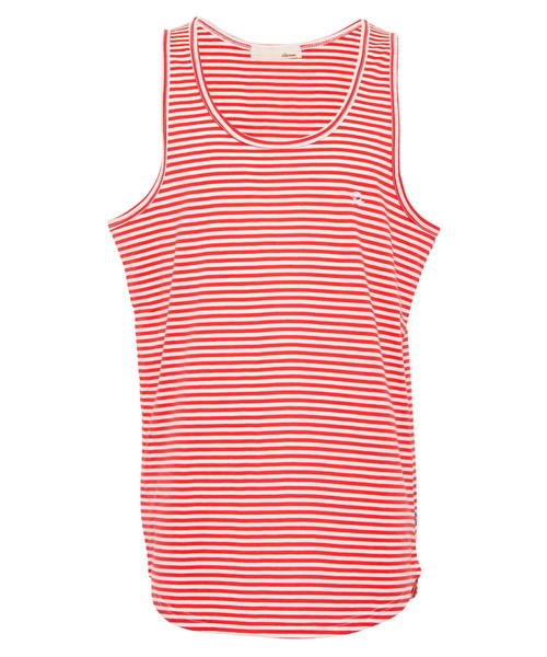 ONE POINT ICON BORDER TANK TOP[REC385]