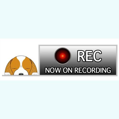 ドライブレコーダー犬ステッカー【ドラREC】見てまイラスト全犬種対応