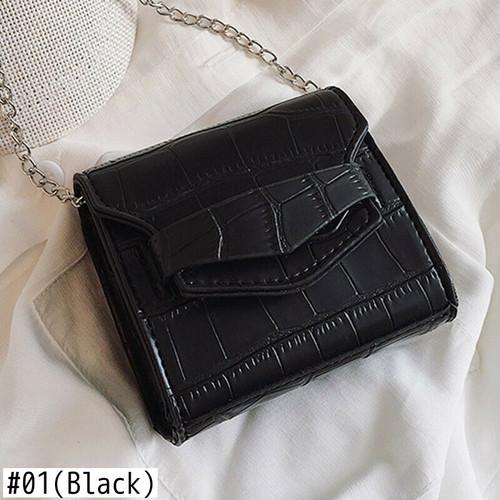 Messenger Bag Leather Crocodile Chain Shoulder Bag Small Crossbody Bag Sac ショルダーバッグ レザー クロスボディ チェーン メッセンジャーバッグ (HF99-4773647)