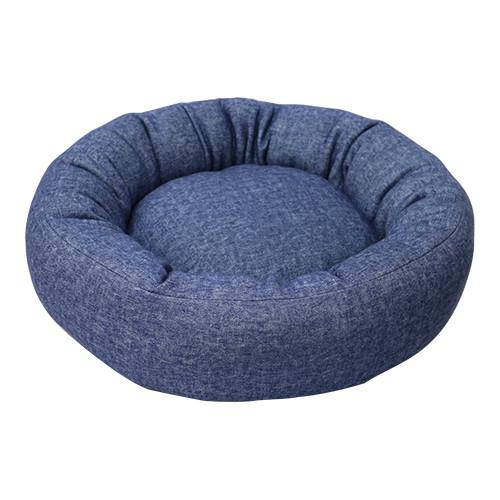 【adorable Pet's】デニム風  ラウンドベッド (ブルー)Mサイズ