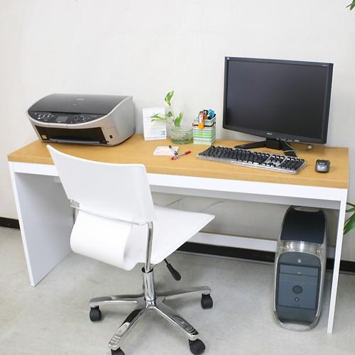 【激安/ネット最安値】薄型パソコンデスク ハイタイプ 幅150×奥行45 ナチュラル 4515H
