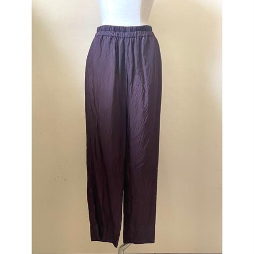 【hippiness】cupro easy pants (dark purple) /【ヒッピネス】キュプラ イージーパンツ(ダークパープル)