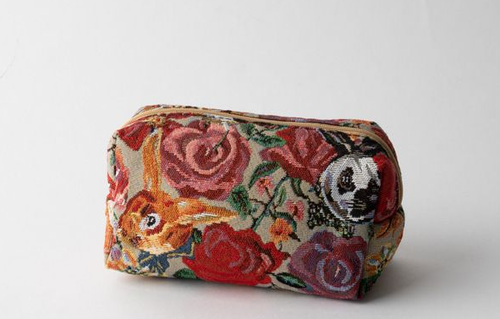 NathalieLeteナタリーレテ スクエアポーチ Rabbit&Flower