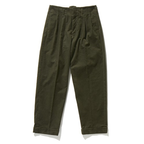 【FILL THE BILL】《MENS》CORDUROY TWOTACK TAPERED PANTS - OLIVE