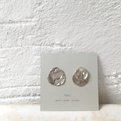 【Hau.】glass×silver 7way pierce(silver925ポスト)