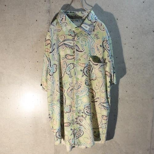 Short sleeve paisley silk shirt