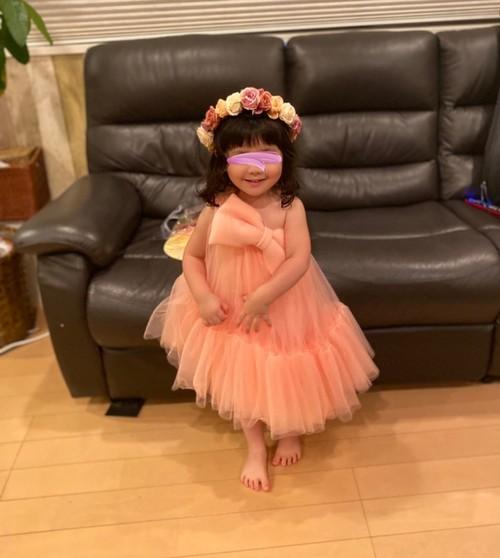 【Kids】ビッグリボンワンショルダードレス☆