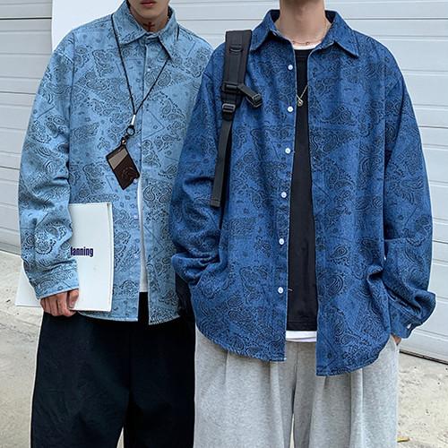 ペイズリーデニムシャツ BL6501