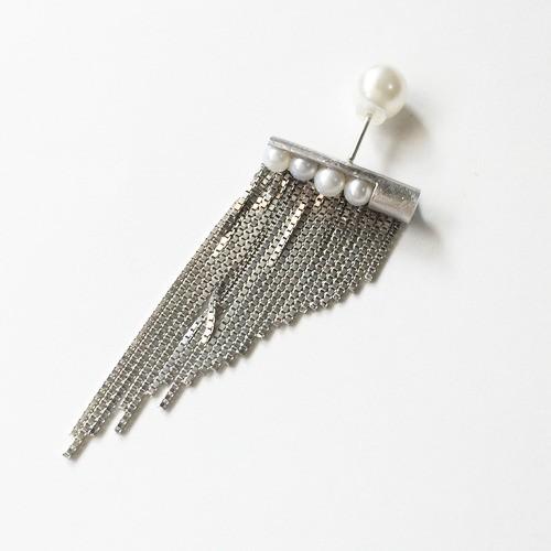 フリンジパールピアス(ロジウムメッキ)片耳販売