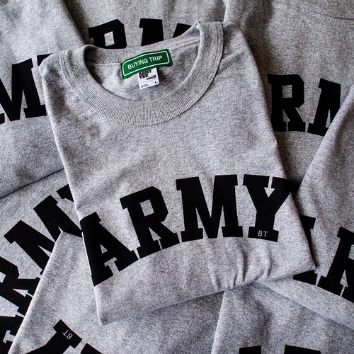 "【BUYING TRIP】""ARMY"" HEAVY WEIGHT WIDE T-shirt (HEATHER GRAY)"