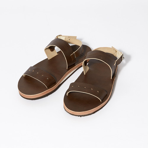 【FILL THE BILL】《MENS》MILITARY LEATHER SANDAL - DARK BROWN